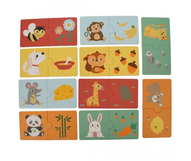 Set puzzle de jucarie, 10 poze cu animale - 3315072