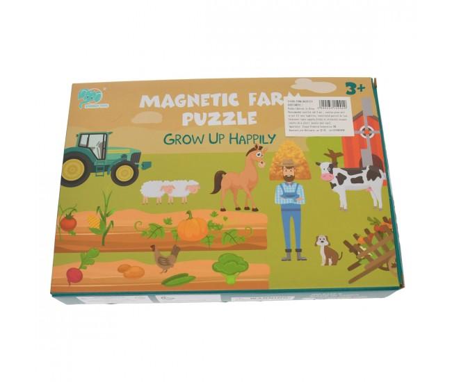 Set puzzle de jucarie, carte magnetica si 28 de accesorii - 3315092