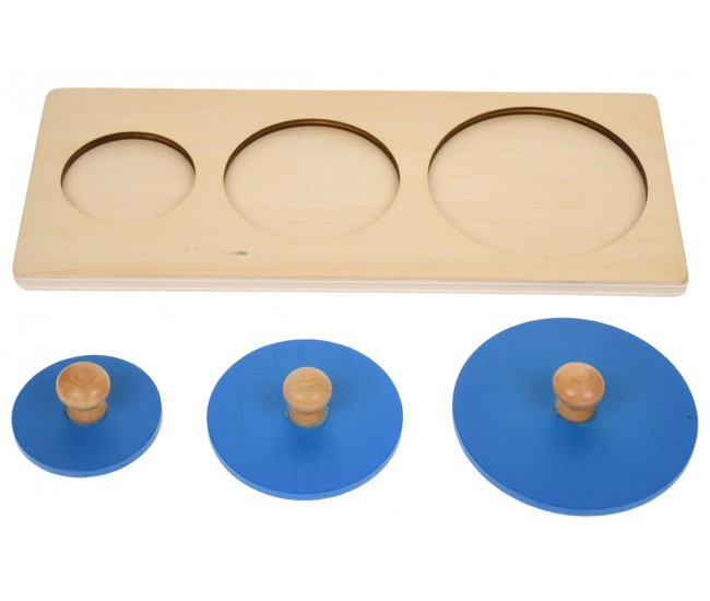 Puzzle de jucarie, potrivire dimensiuni, din lemn - 1103076A