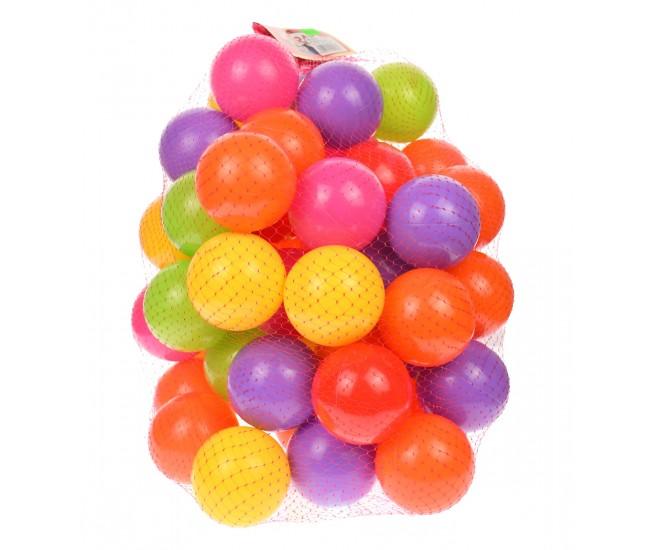 Mingiute de plastic, 50 de bucati, diametru 6.5 cm, multicolor - 0013508