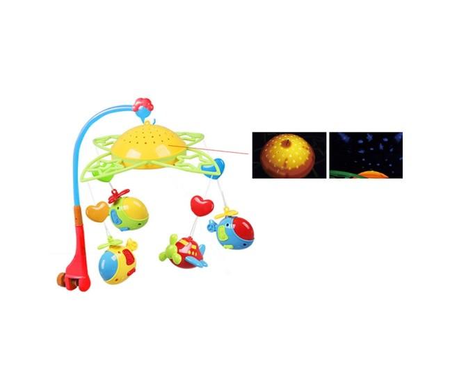 Carusel muzical cu proiectie de lumini, jucarie pentru bebelusi pe baterii - SL81005