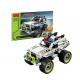 Set constructie, masinuta de jucarie, lego, 170 de piese, gri - 3417