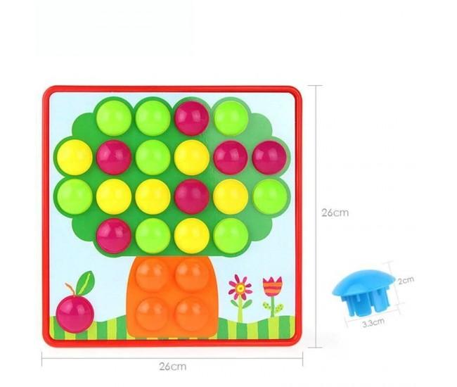 Jucarie de creatie, desene mozaic, multicolor, 31x31 cm