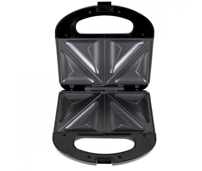Sandwich-maker Floria, 750 W, Inox,  2 sandwich-uri, Negru - ZLN4304