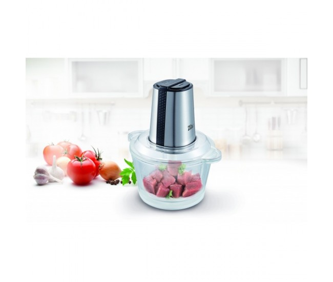 Tocator legume-fructe ZILAN ZLN-3888, Putere 300W, Vas din sticla 1.6L, 4 lame inox, 2 trepte de viteza - ZLN3888