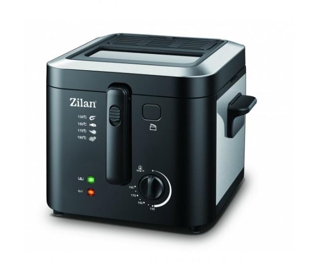 Friteuza Zilan ZLN-0010, 1600 W, 2.5 l, Termostat reglabil, Cuva detasabila, Inox - ZLN0010