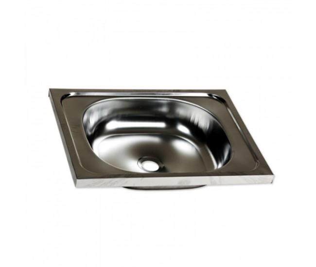 Chiuveta inox o cuva pentru masca + racord flexibil scurgere, 40x50 cm. Z-Inox, ZLN-0148+ZLN-2968