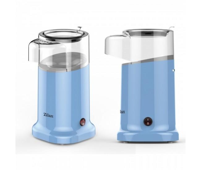 Aparat Pentru Popcorn Zilan ZLN-3147, Putere 1200W, sistem cu jet de aer cald, Bleu - ZLN3147