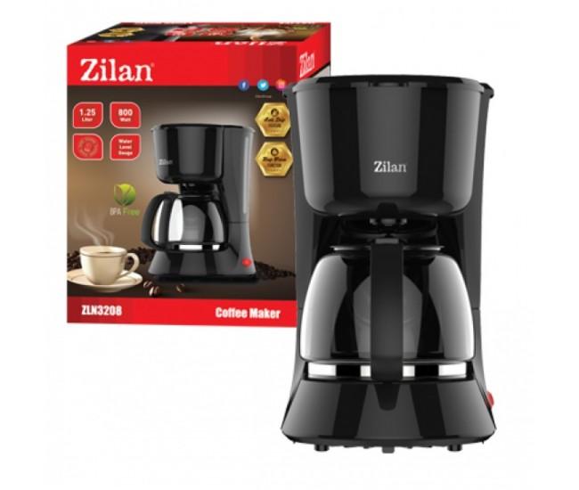Filtru Cafea ZILAN ZLN-3208,Putere 800W, 1.25 L, plita pentru pastrarea calda a cafelei - ZLN3208