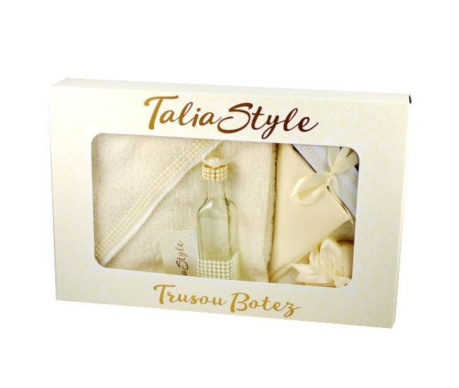 Trusou Botez fetite, baieti Talia Pearl Style - set pentru biserica TRB742
