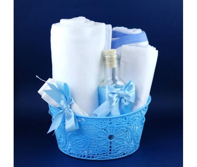 Trusou botez baieti - set botez biserica - trusou bleu T1495