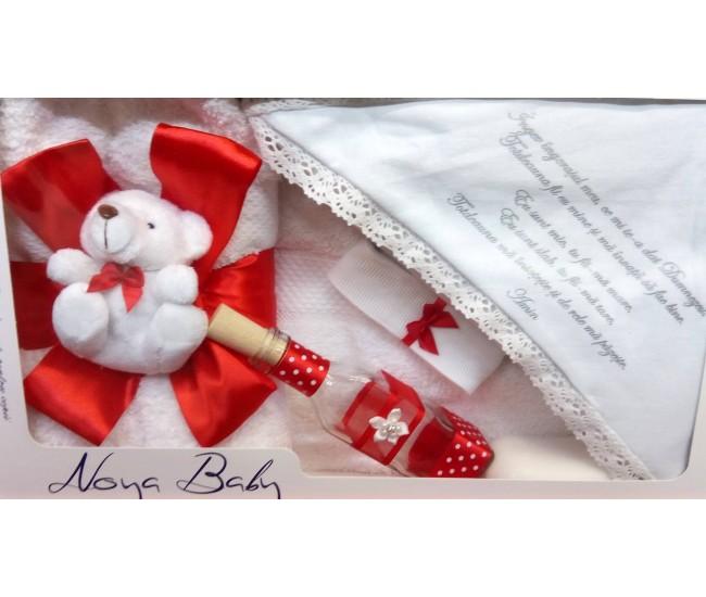 Trusou Botez rosu pentru fetite - set complet pentru biserica TRB509