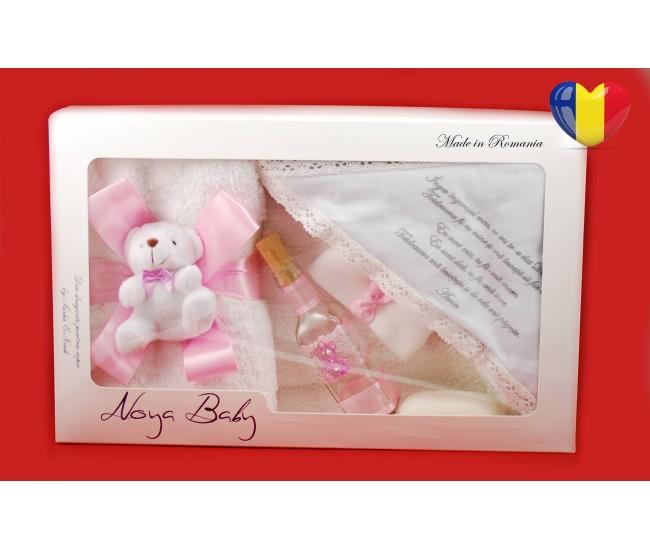 Trusou Botez roz pentru fetite - set complet pentru biserica TRB511