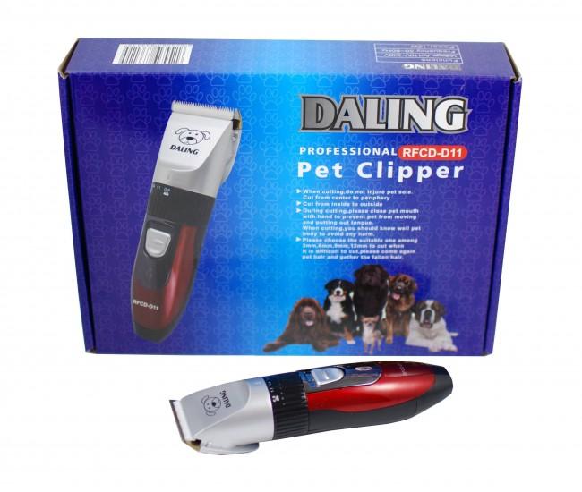 Masina de tuns caini si pisici DALING PET - Aparat de tuns profesional reincarcabil D32PET