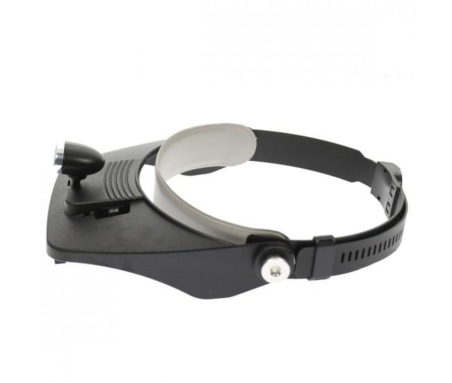 Lupa de cap cu lumina si lentile interschimbabile - Ideal pentru ceasornicari, service GSM - MP244L