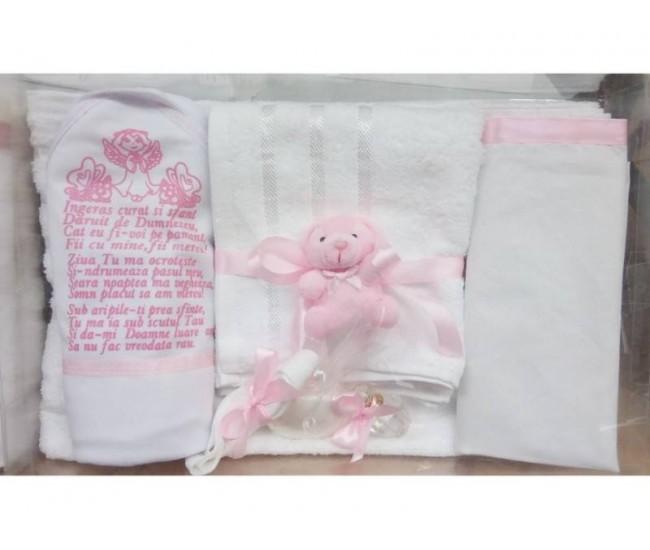 Trusou Botez pentru fetite si baieti - set complet pentru biserica - Roz, rosu, bleumarin...