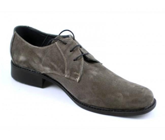 Pantofi barbati piele naturala (Intoarsa) casual si eleganti GRI - P34G