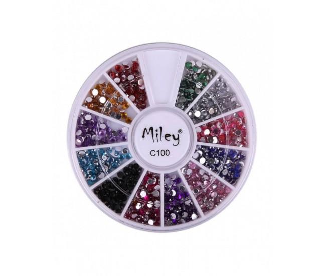 Carusel pentru unghii strasuri Miley C100