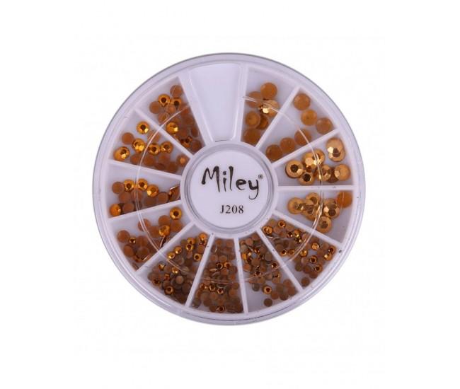 Carusel metalic gold mix pentru unghii false - manichiura J208