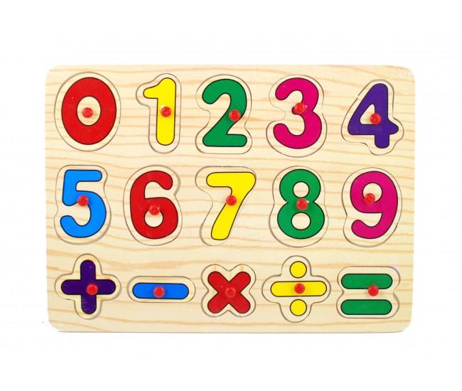Puzzle din lemn cu cifre - invata sa numeri ZY255B