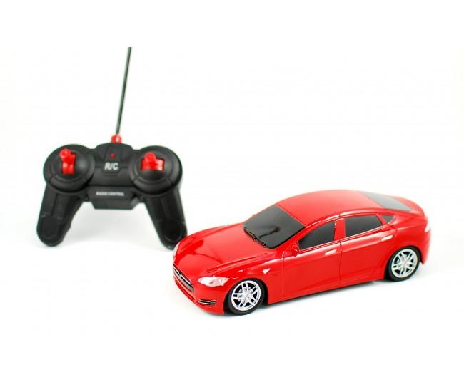 Masina de jucarie cu radio comanda 1:18 - Masinuta rosie sport pentru copilul tau