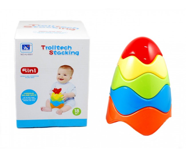 Jucarie creativa din plastic cu forme geometrice 5 in 1 - Distractie pentru copii