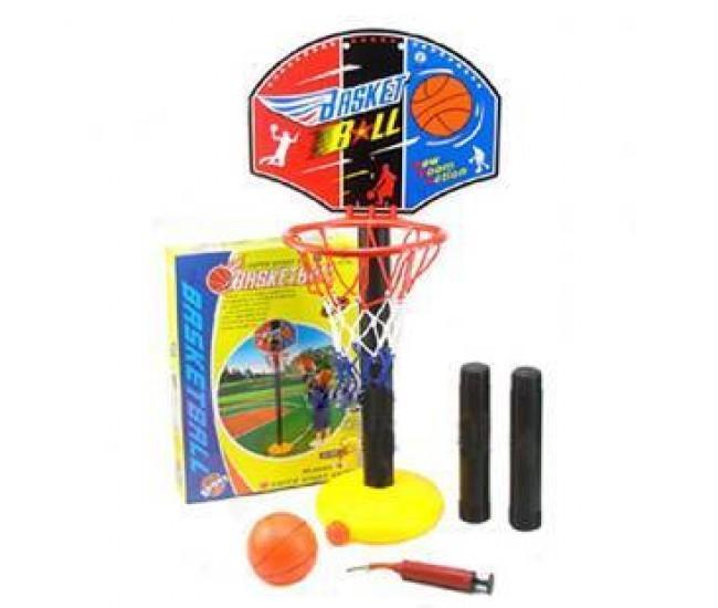 Jucarie cos de baschet pentru copii cu minge si pompa incluse (inaltime 115 cm)