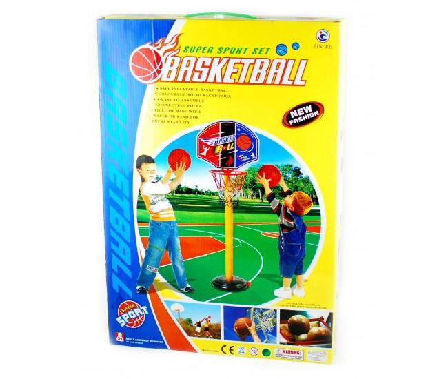 Jucarie cos de baschet pentru copii cu minge si pompa incluse (inaltime 140 cm)