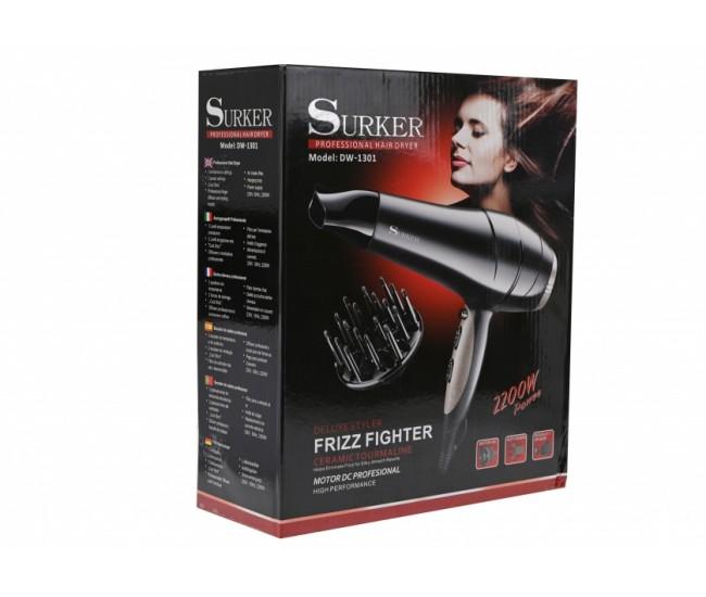 Uscator Profesional Deluxe Styler de par cu 3 trepte de temperatura si 2 viteze SURKER - DW1301