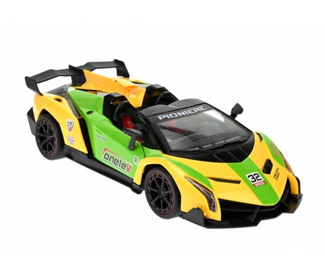 Jucarie Masina Sport decapotabila cu radiocomanda si lumini, portiere rabatabile - 3688S12AG