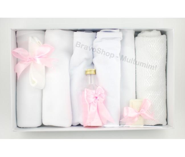 Trusou botez fetite roz - set botez pentru biserica