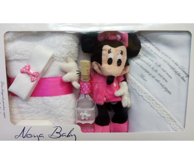 Trusou Botez cu Minnie Mouse pentru fetite - set complet pentru biserica TRB512