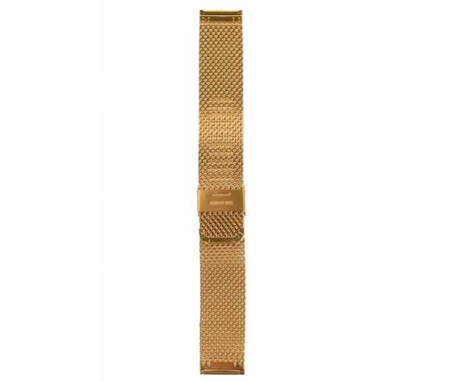Curea de ceas din metal, 22 mm x 18 cm, auriu - 300X22G