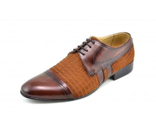 Pantofi barbati eleganti din piele naturala - 032MCOMB