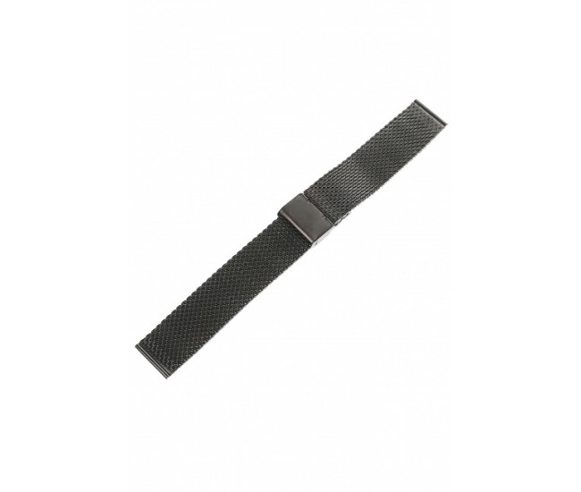Curea de ceas din metal, 20 mm x 18 cm, negru - 300X20NEGRU