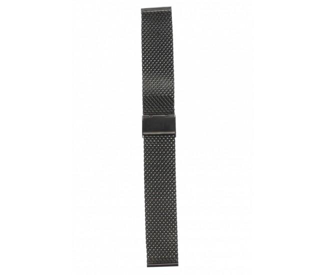 Curea de ceas din metal, 22 mm x 18 cm, negru - 300X22NEGRU