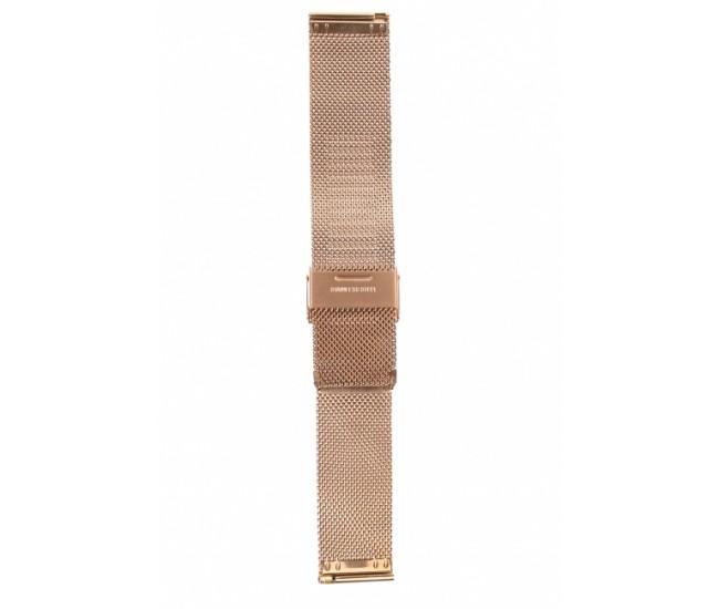 Curea de ceas din metal, 24 mm x 19 cm, bronz