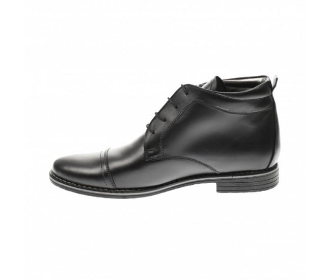 Ghete barbati din piele naturala casual - elegante Made in Romania - BOND2022NEGRU