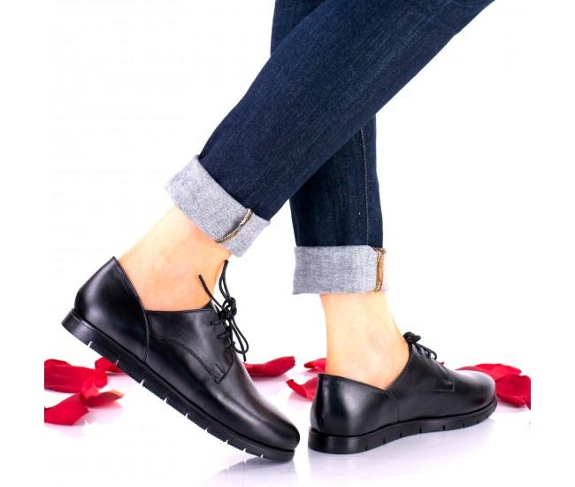 Oferta marimea 38 - Pantofi dama, casual, din piele naturala  LNA296N