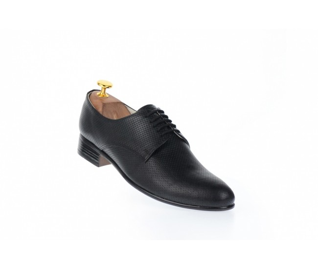 Oferta marimea 40, 44 - Pantofi barbati office, eleganti din piele naturala de culoare neagra , COD PRODUS -  NIC211SIRNP