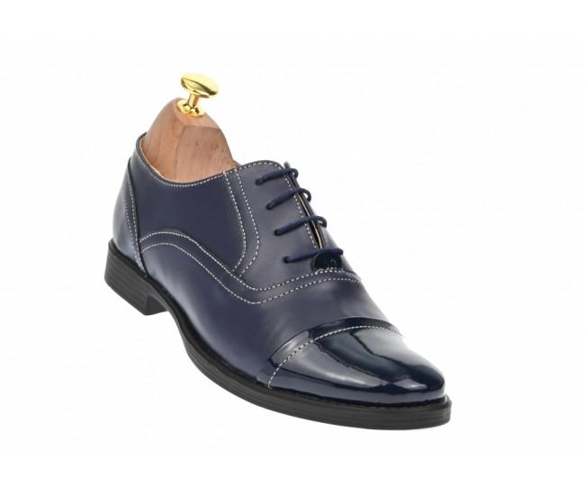 Oferta marimea 39 Pantofi dama bleumarin casual din piele naturala - LP293BL