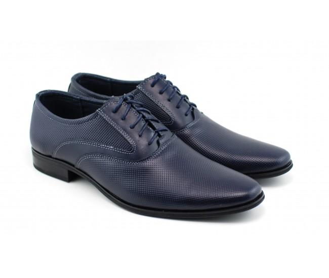 Pantofi barbati eleganti din piele naturala bleumarin STEFIGBL