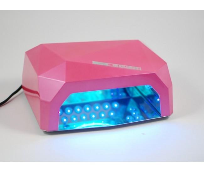 Lampa UV digitala LED Diamond 18W ultraviolete din inox pentru uscare unghii, cu temporizator