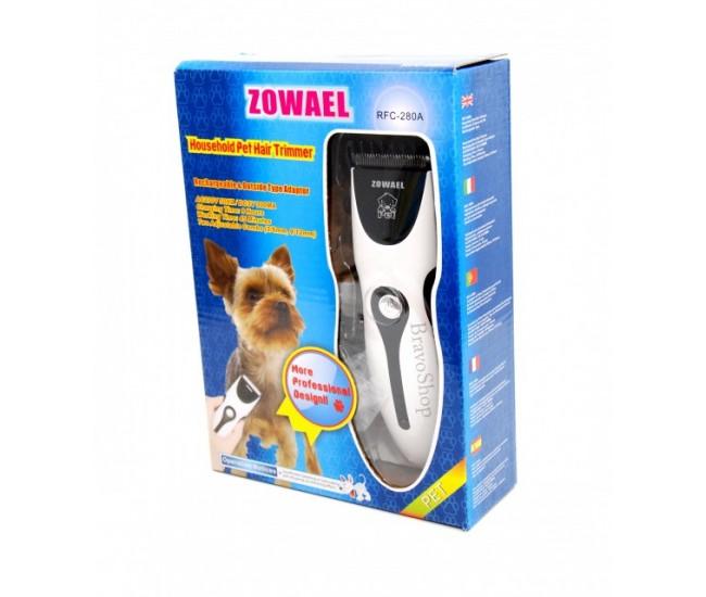 Masina de tuns caini si pisici Zowael - Aparat de tuns profesional reincarcabil - Garantie 24 luni