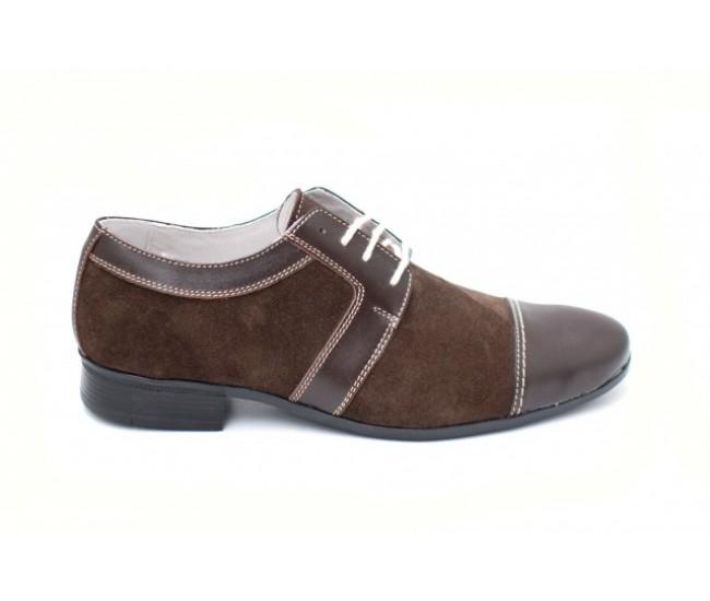 Pantofi maro barbati casual - eleganti din piele naturala - Made in Romania