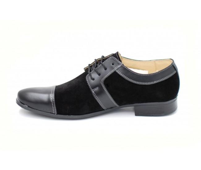 Pantofi negri barbati casual - eleganti din piele naturala - Made in Romania
