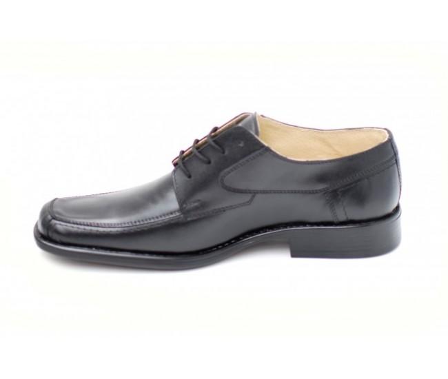 Pantofi negri eleganti barbatesti din piele naturala cu siret - Made in Romania