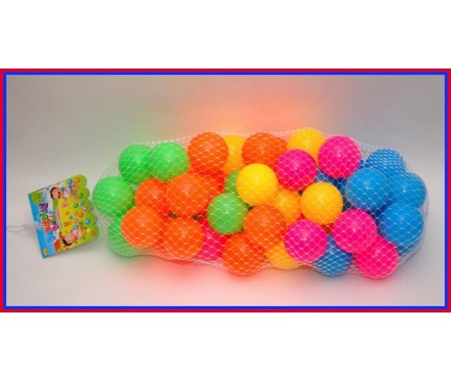 Set Bile colorate pentru copii - 75 mm diametru - 100 buc/set