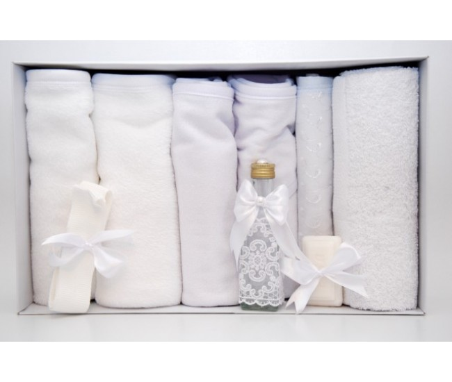Trusou botez alb - set complet pentru biserica