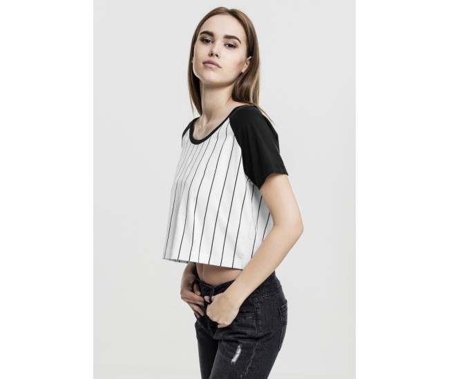 Ladies Cropped Baseball Tee
